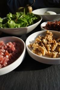 Zutaten für den besten Herbstsalat
