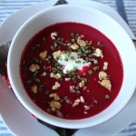 Voilà: Rote-Beete-Suppe.